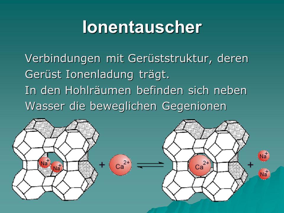 Ionentauscher Verbindungen mit Gerüststruktur, deren