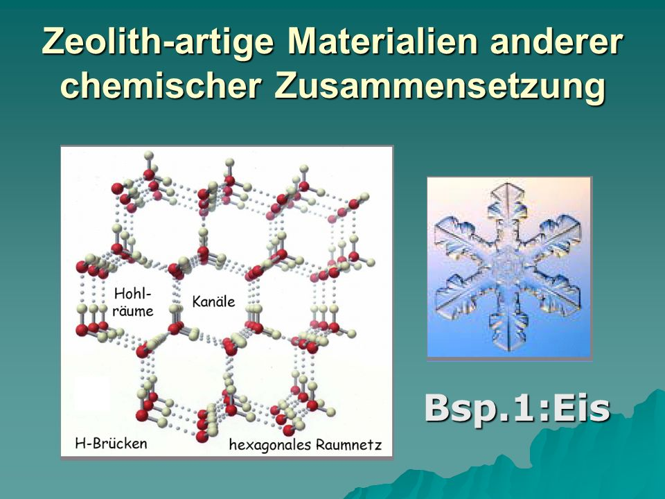 Zeolith-artige Materialien anderer chemischer Zusammensetzung
