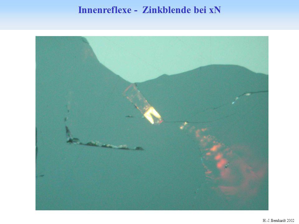 Innenreflexe - Zinkblende bei xN