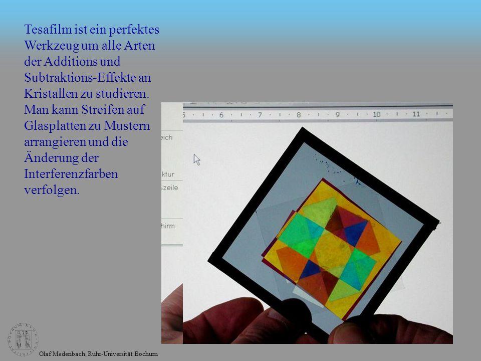 Tesafilm ist ein perfektes Werkzeug um alle Arten der Additions und Subtraktions-Effekte an Kristallen zu studieren.