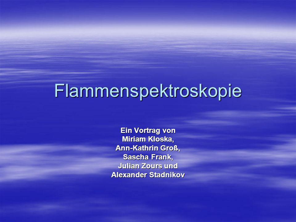 Flammenspektroskopie