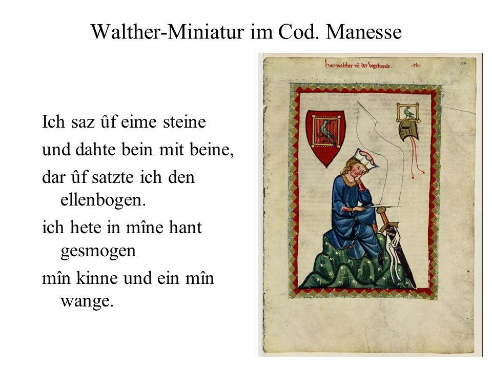 Walther-Miniatur im Cod. Manesse