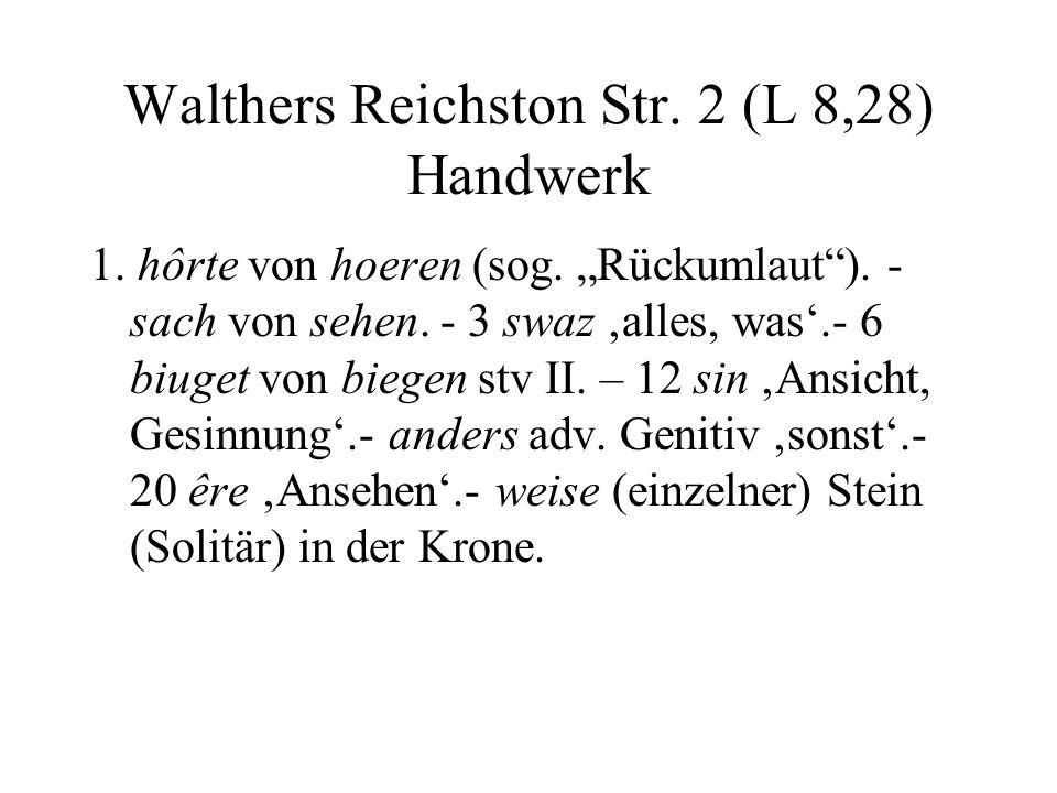 Walthers Reichston Str. 2 (L 8,28) Handwerk