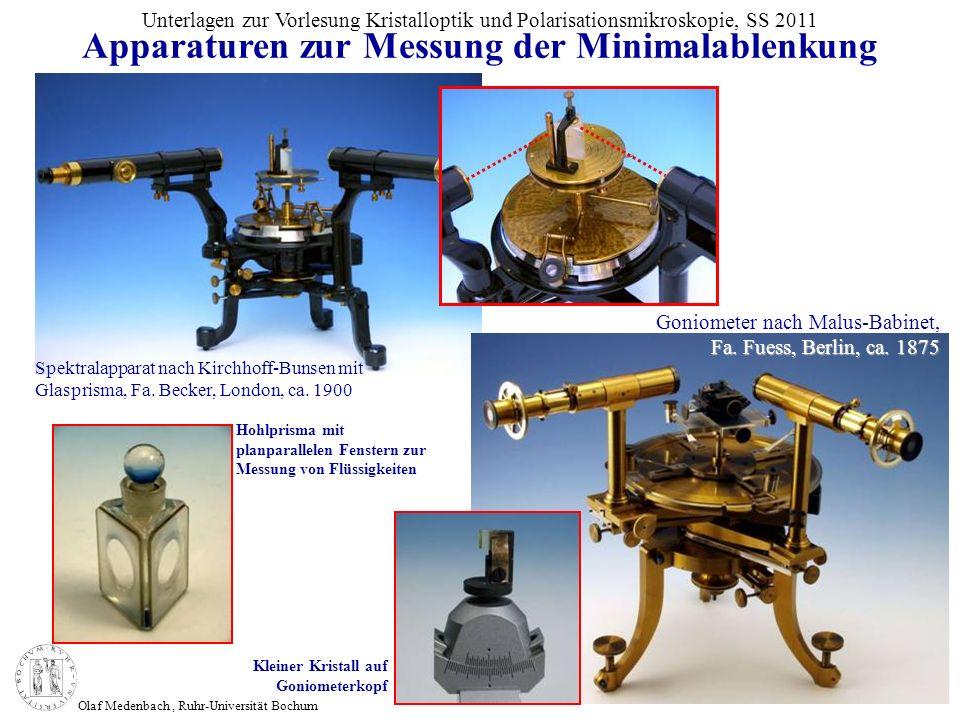 Apparaturen zur Messung der Minimalablenkung