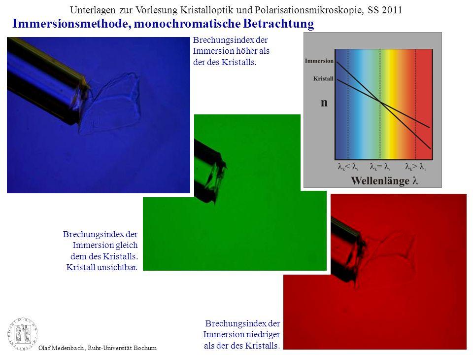 Immersionsmethode, monochromatische Betrachtung