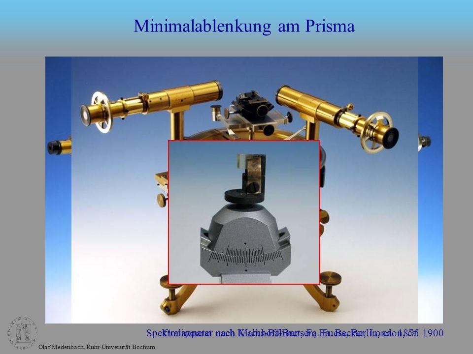 Minimalablenkung am Prisma