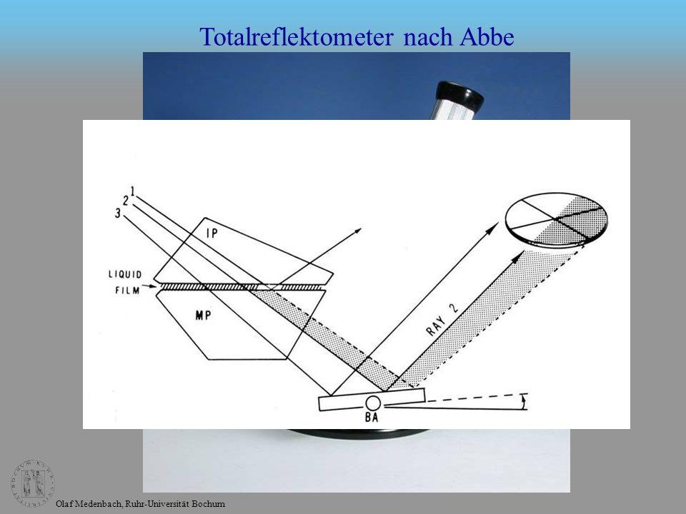 Totalreflektometer nach Abbe