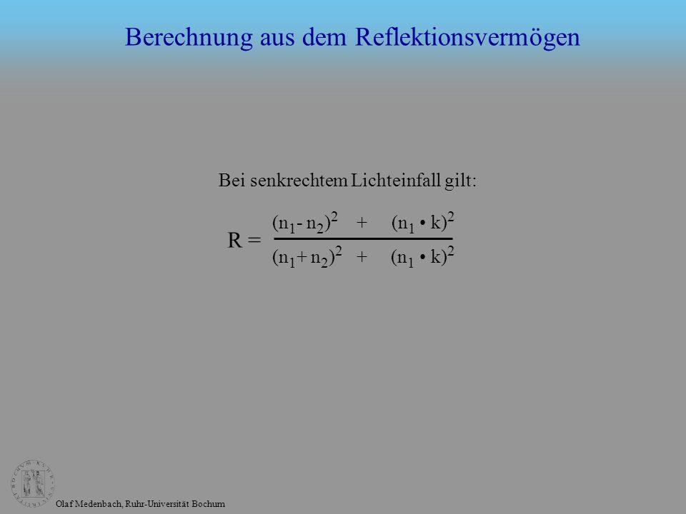 Berechnung aus dem Reflektionsvermögen