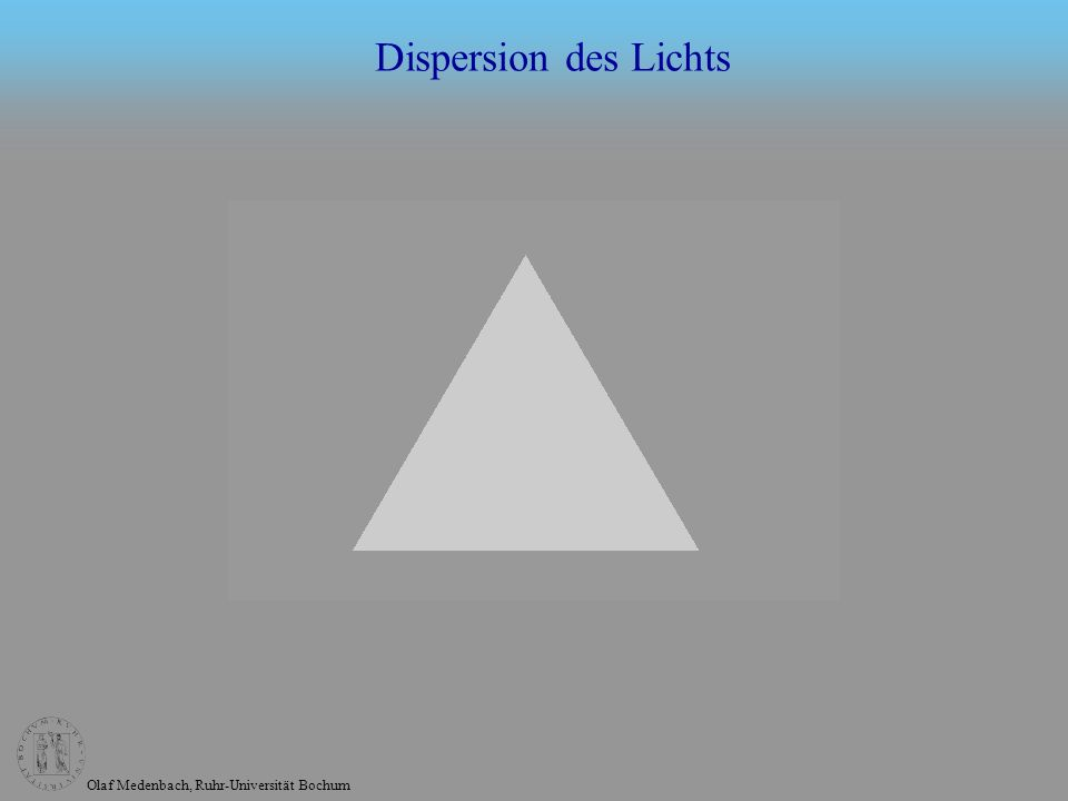 Dispersion des Lichts