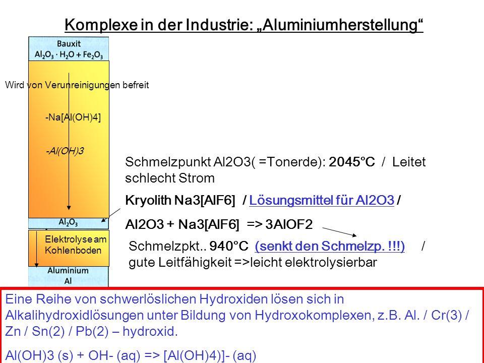 """Komplexe in der Industrie: """"Aluminiumherstellung"""