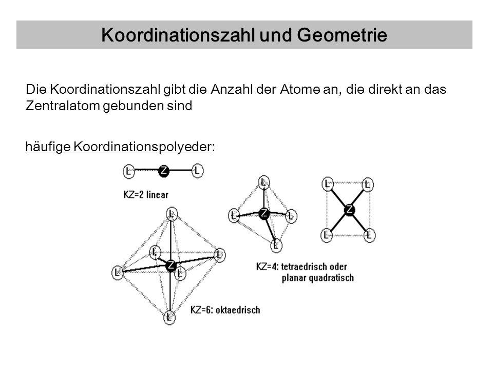 Koordinationszahl und Geometrie