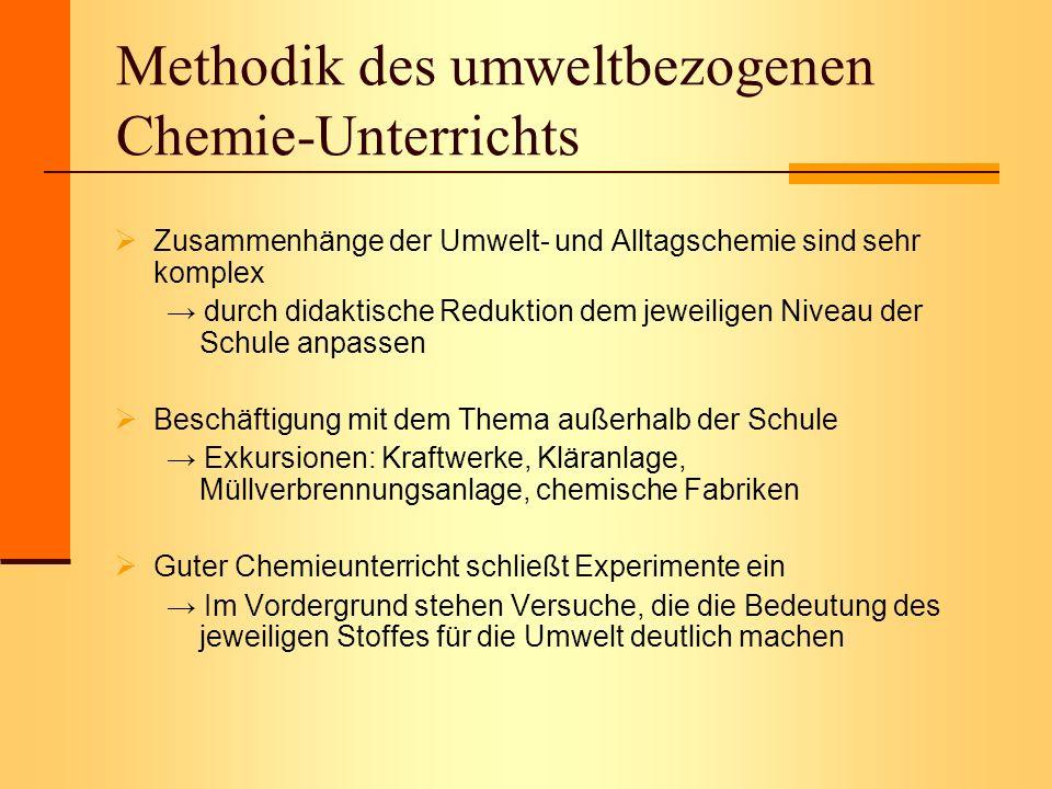 Methodik des umweltbezogenen Chemie-Unterrichts