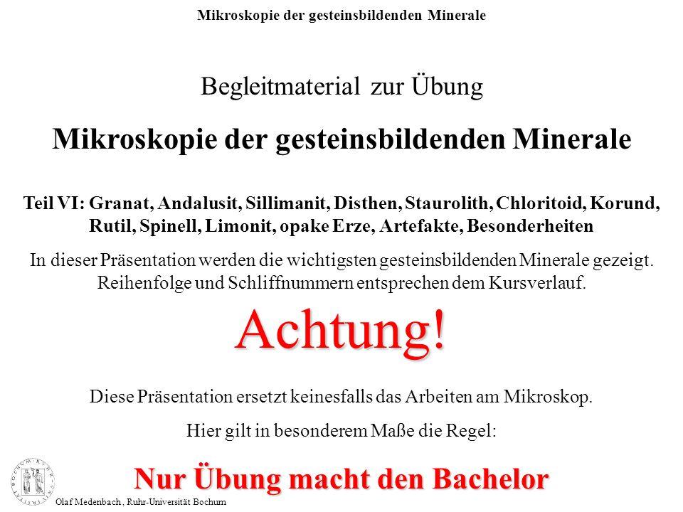Achtung! Mikroskopie der gesteinsbildenden Minerale