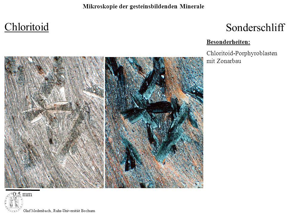 Chloritoid Sonderschliff Besonderheiten: