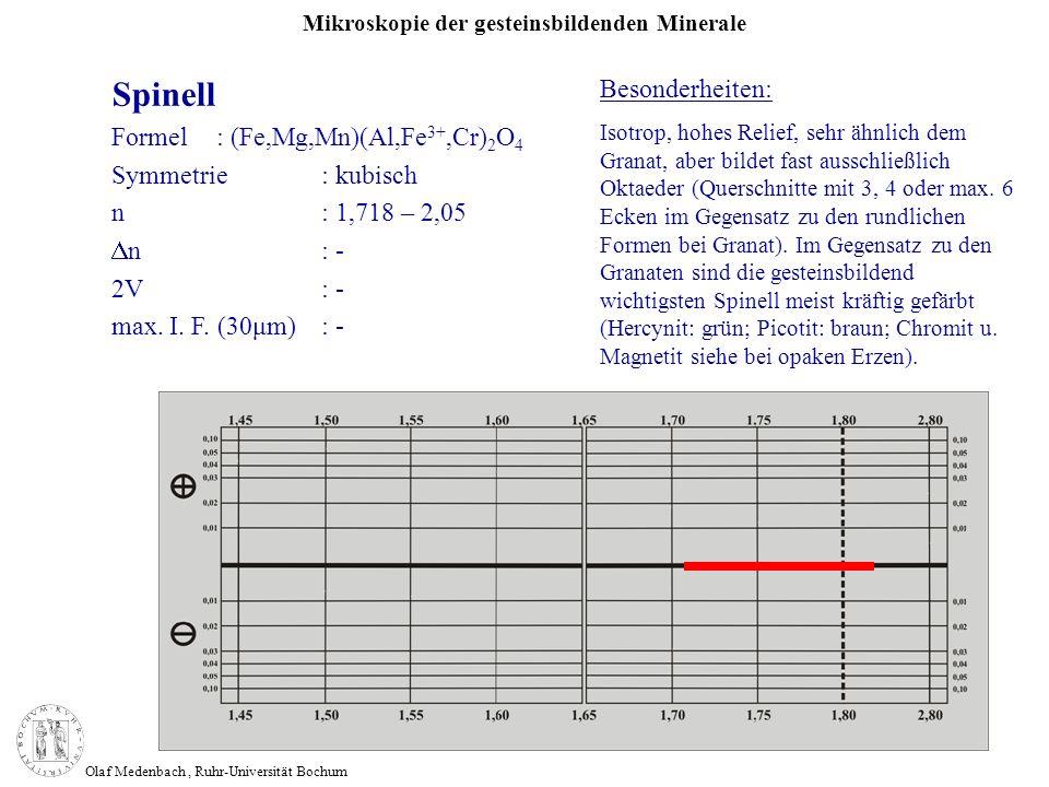 Spinell Besonderheiten: Formel : (Fe,Mg,Mn)(Al,Fe3+,Cr)2O4