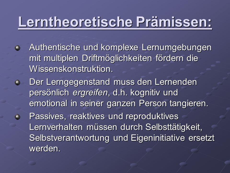 Lerntheoretische Prämissen: