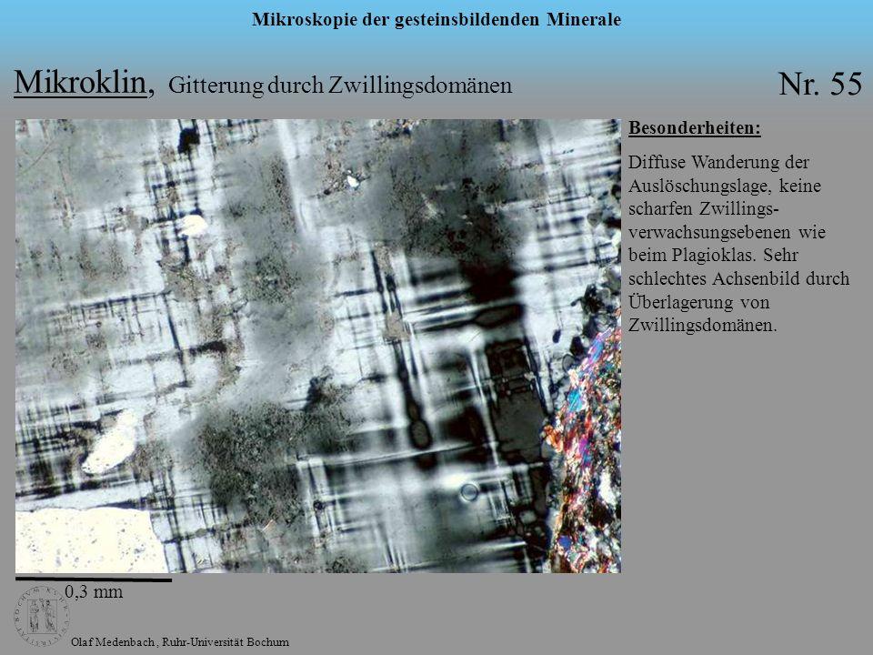 Mikroklin, Gitterung durch Zwillingsdomänen Nr. 55