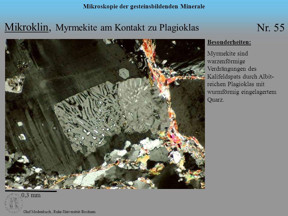 Mikroklin, Myrmekite am Kontakt zu Plagioklas Nr. 55