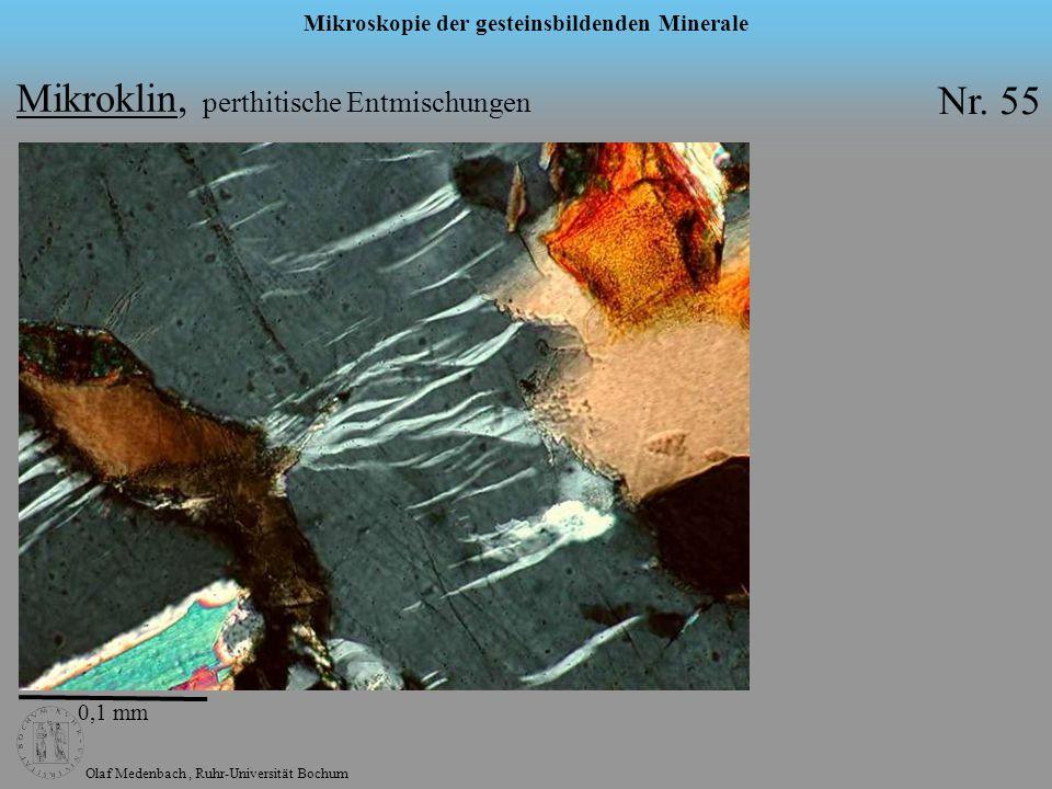 Mikroklin, perthitische Entmischungen Nr. 55