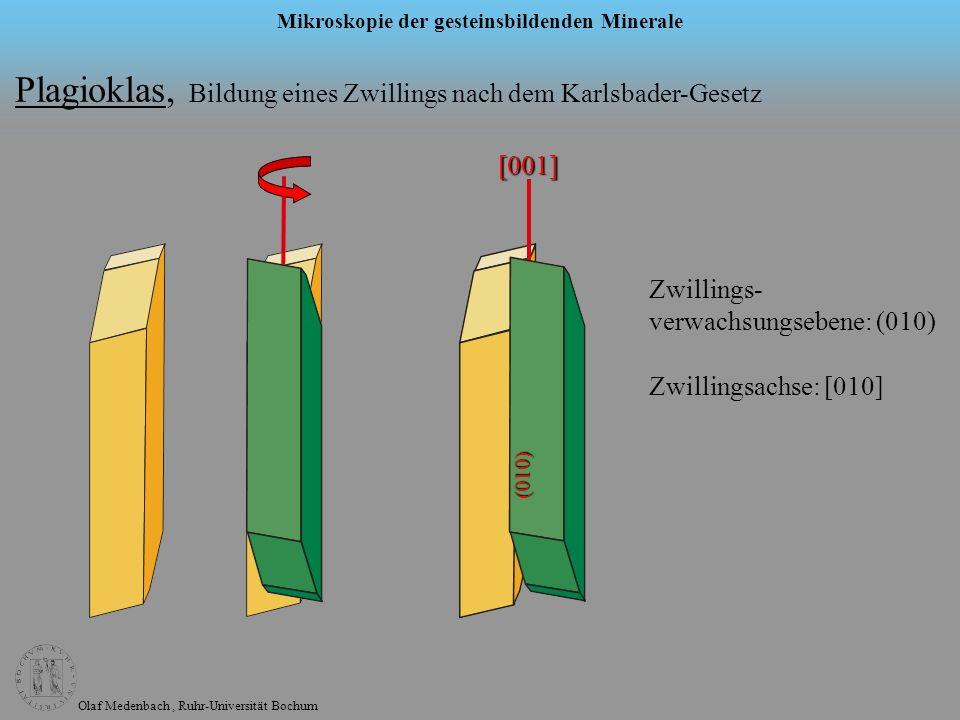 Plagioklas, Bildung eines Zwillings nach dem Karlsbader-Gesetz
