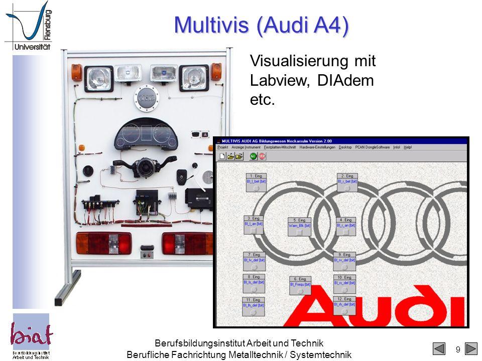 Multivis (Audi A4) Visualisierung mit Labview, DIAdem etc.