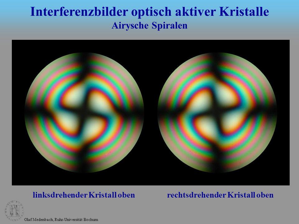Interferenzbilder optisch aktiver Kristalle