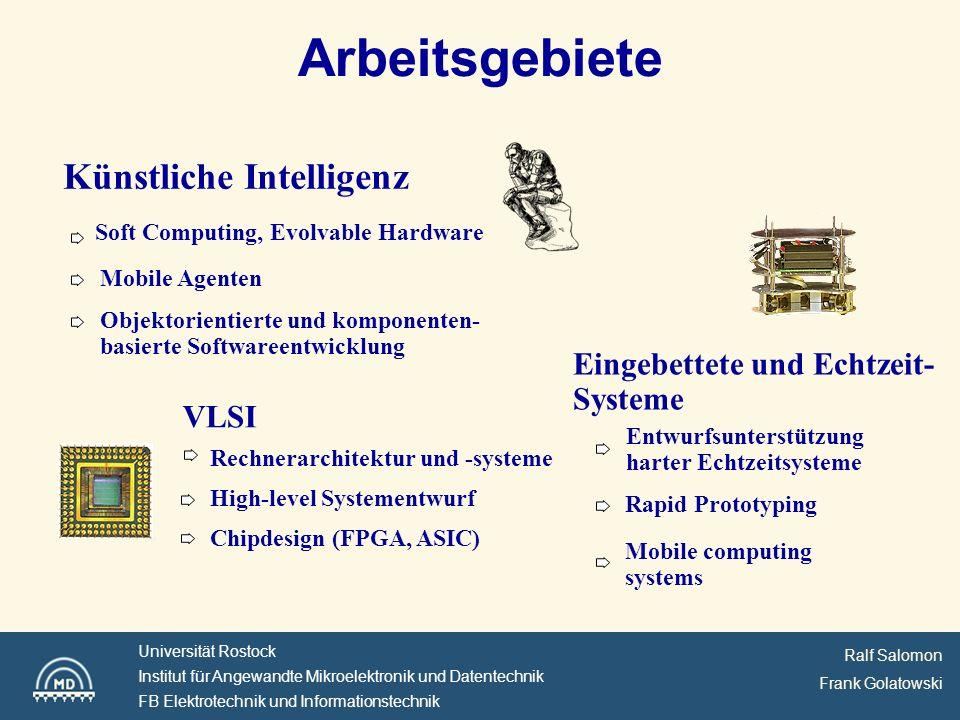 Arbeitsgebiete Künstliche Intelligenz