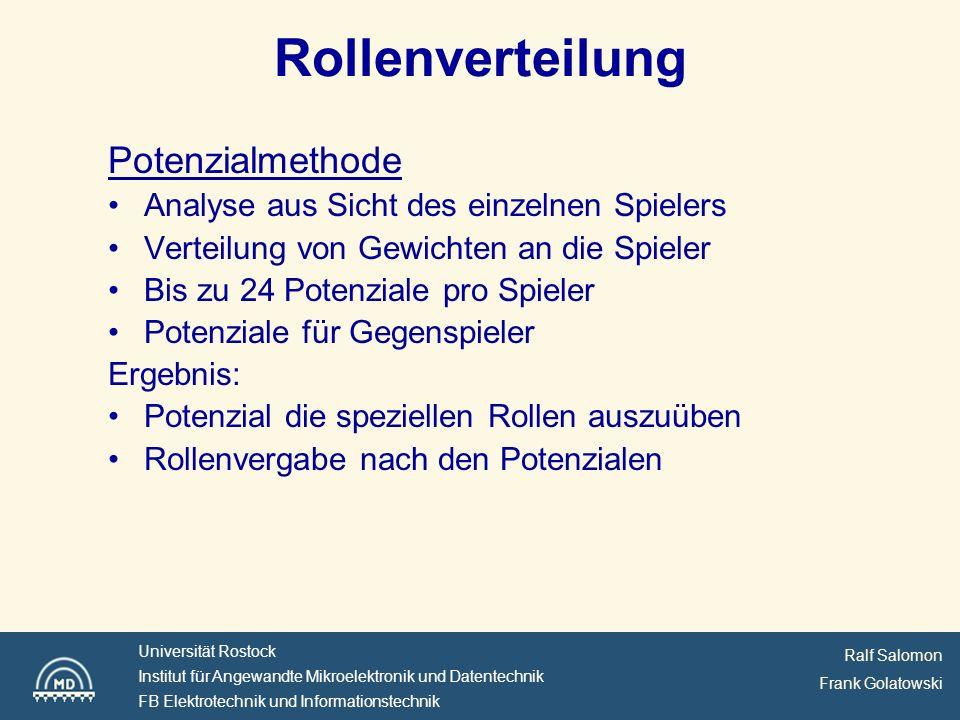 Rollenverteilung Potenzialmethode