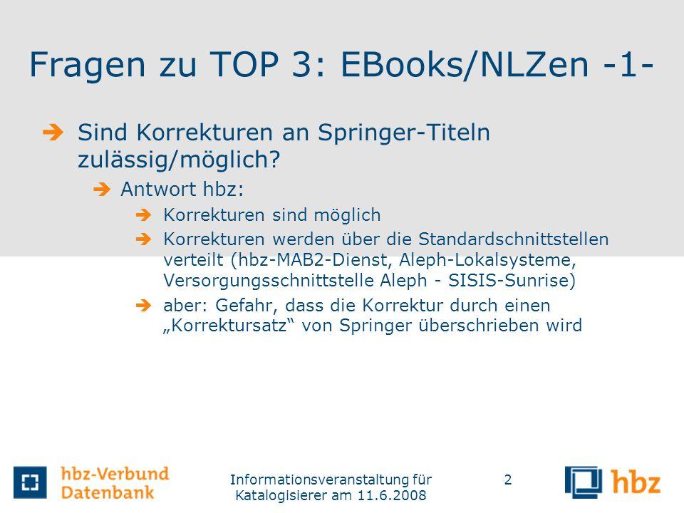 Fragen zu TOP 3: EBooks/NLZen -1-