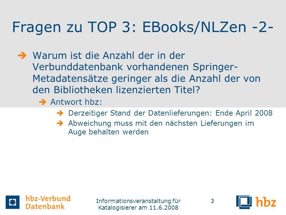 Fragen zu TOP 3: EBooks/NLZen -2-