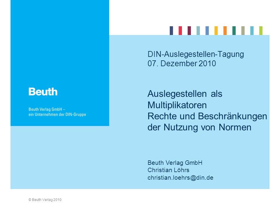 DIN-Auslegestellen-Tagung 07. Dezember 2010