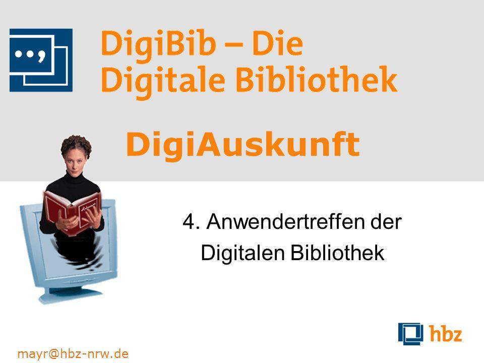 4. Anwendertreffen der Digitalen Bibliothek