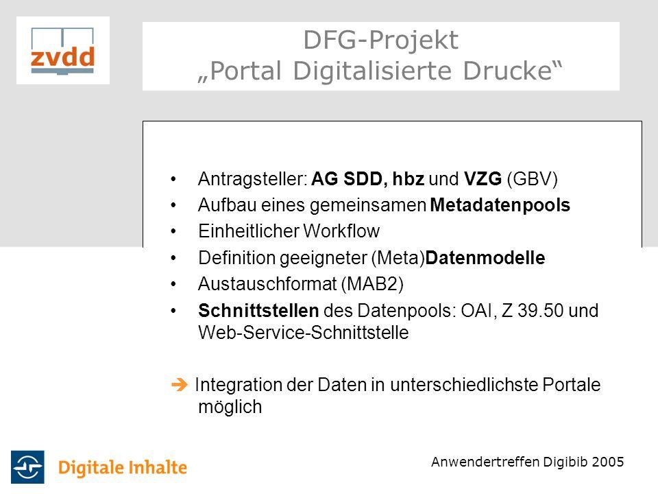 "DFG-Projekt ""Portal Digitalisierte Drucke"