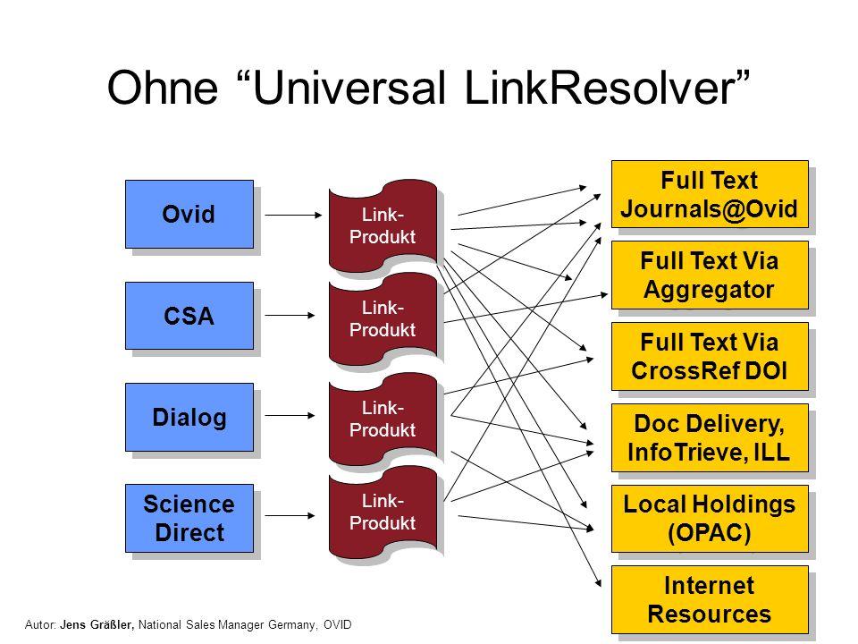 Ohne Universal LinkResolver