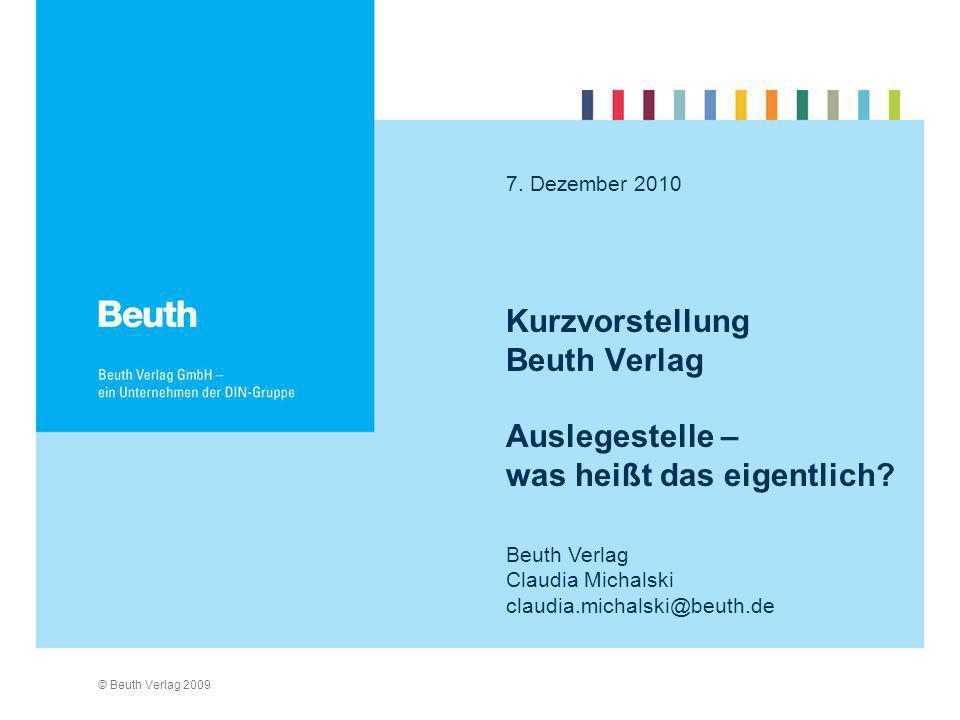Kurzvorstellung Beuth Verlag Auslegestelle – was heißt das eigentlich