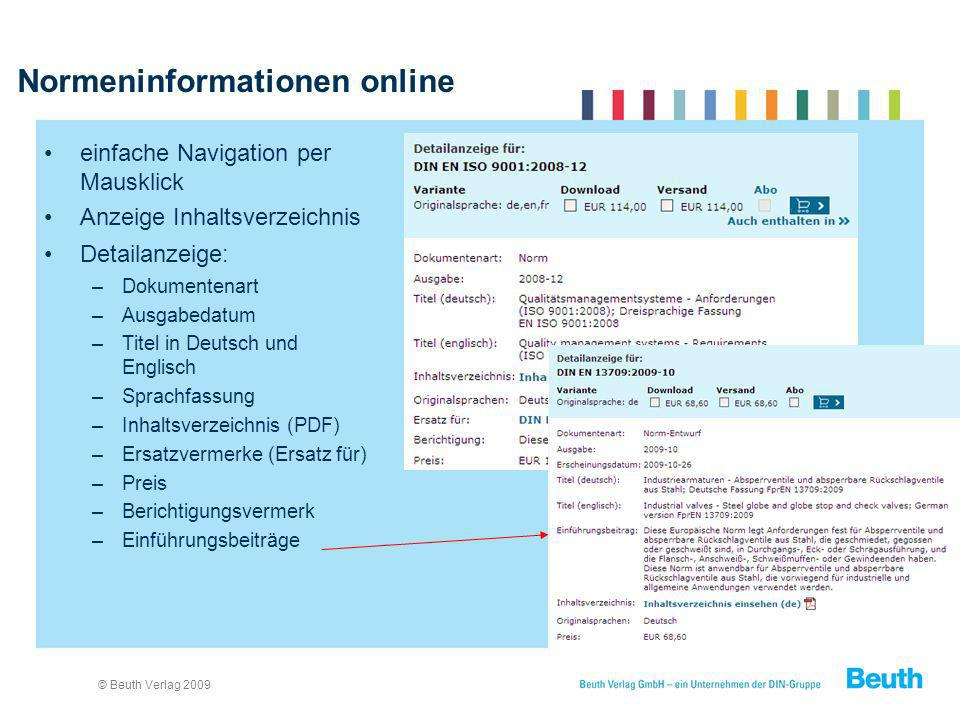 Normeninformationen online