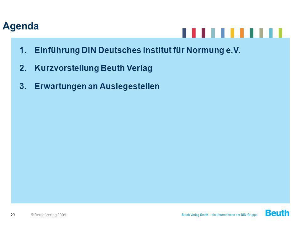 Agenda Einführung DIN Deutsches Institut für Normung e.V.