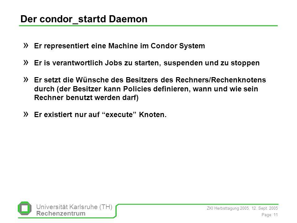 Der condor_startd Daemon