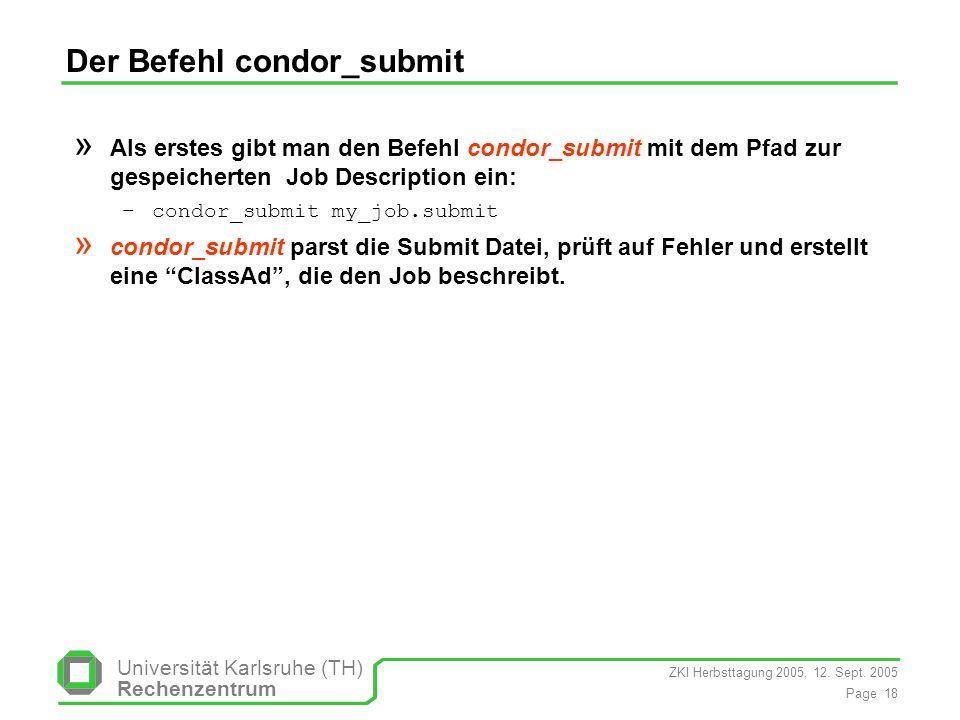 Der Befehl condor_submit