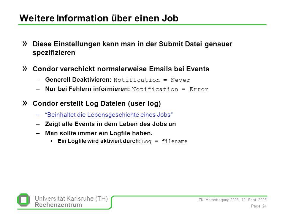 Weitere Information über einen Job