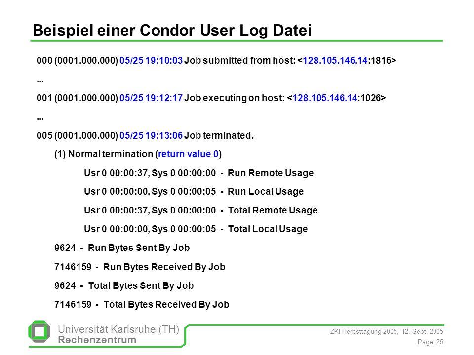 Beispiel einer Condor User Log Datei