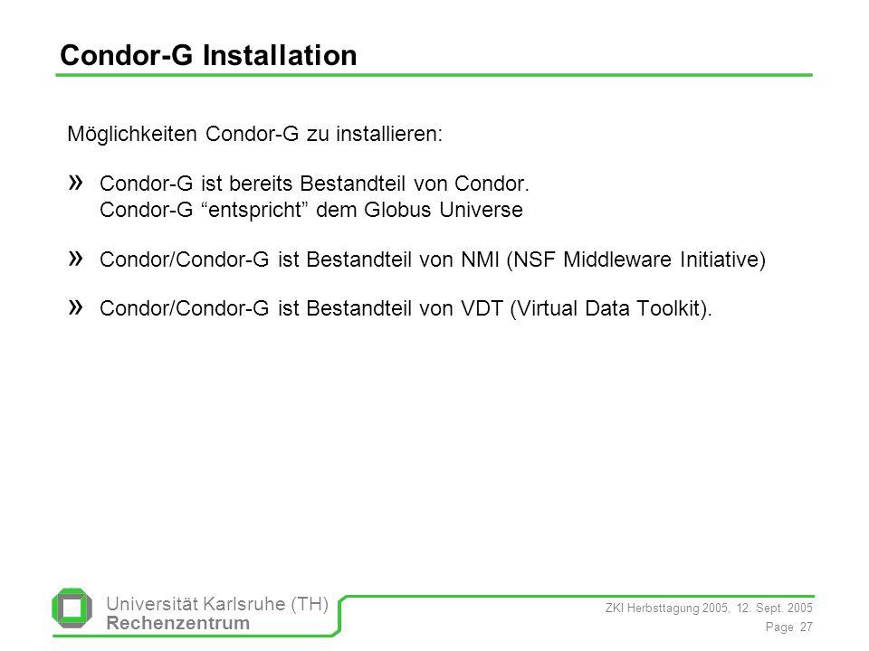 Condor-G Installation