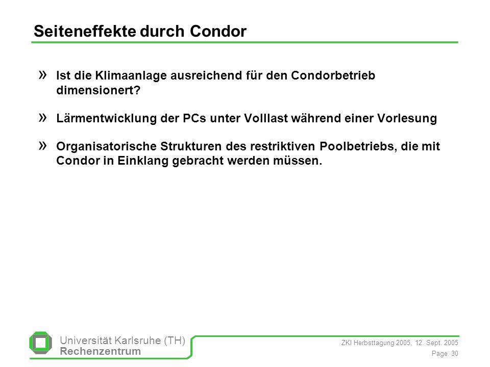 Seiteneffekte durch Condor