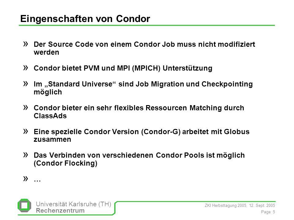 Eingenschaften von Condor
