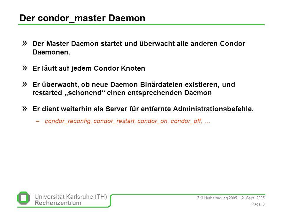 Der condor_master Daemon