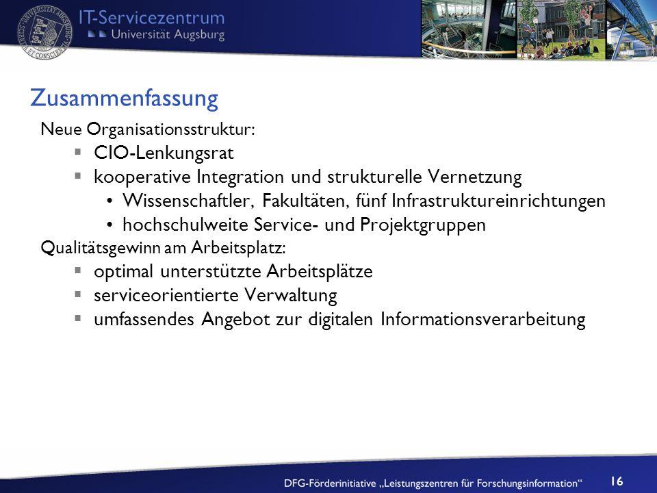 Zusammenfassung CIO-Lenkungsrat