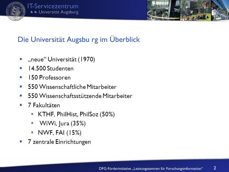 Die Universität Augsbu rg im Überblick