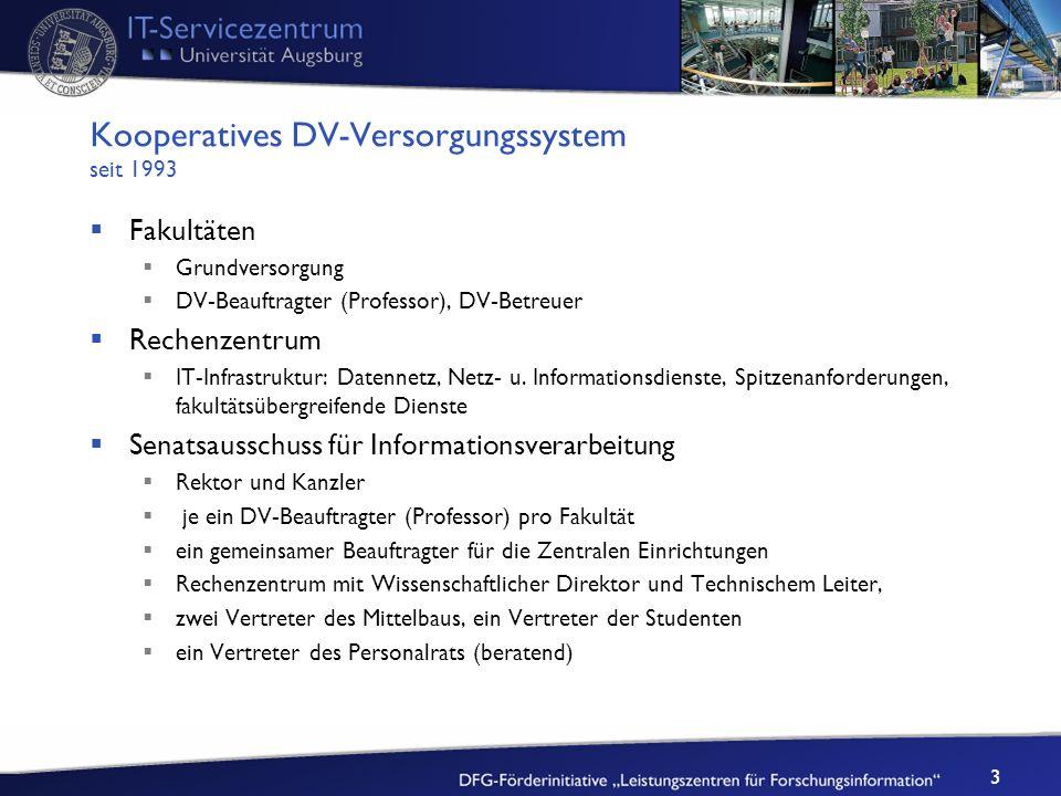 Kooperatives DV-Versorgungssystem seit 1993