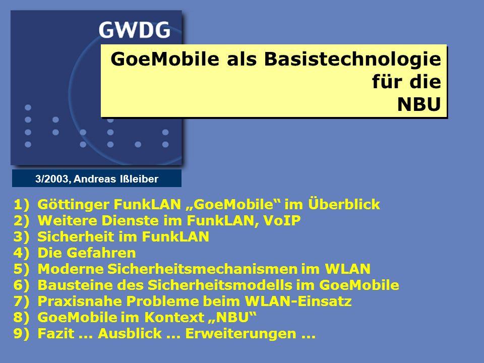 GoeMobile als Basistechnologie für die NBU