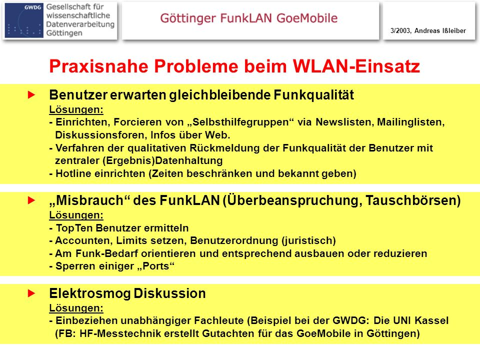 Praxisnahe Probleme beim WLAN-Einsatz